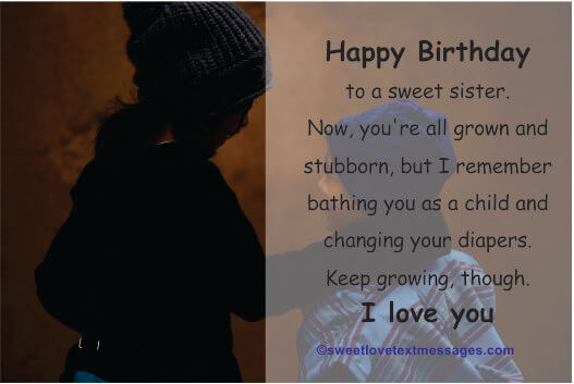 Funny birthday wishes for sister on facebook