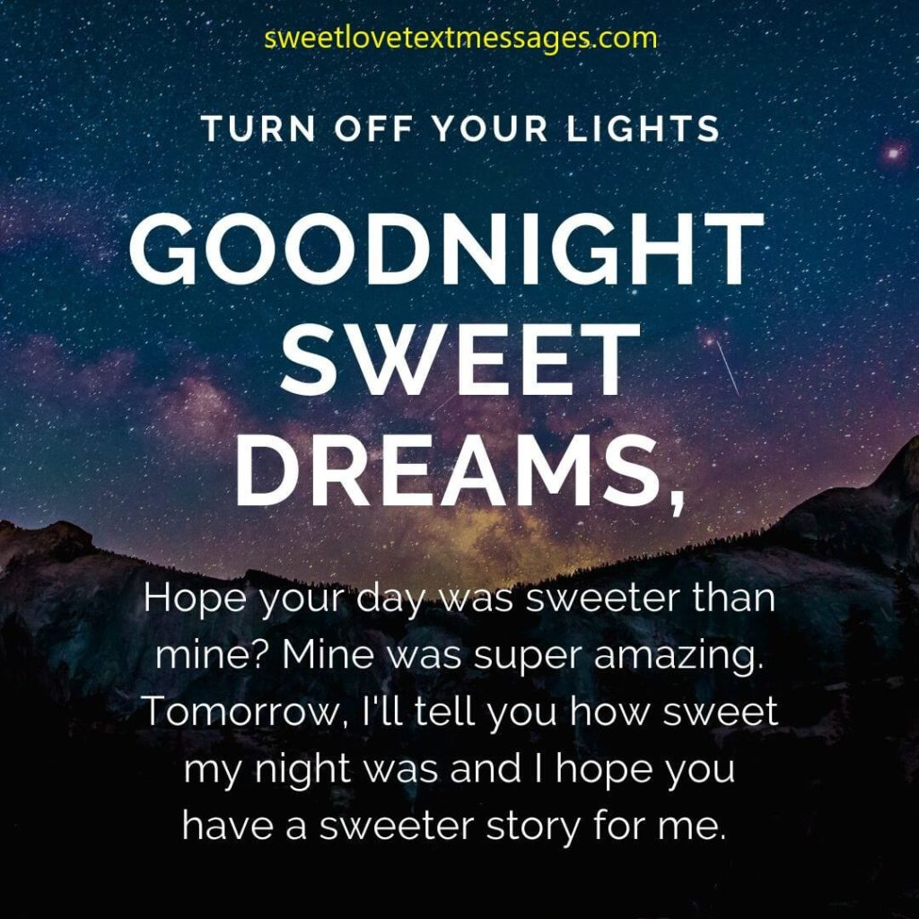 Good Night Sweet Dreams Messages for Her