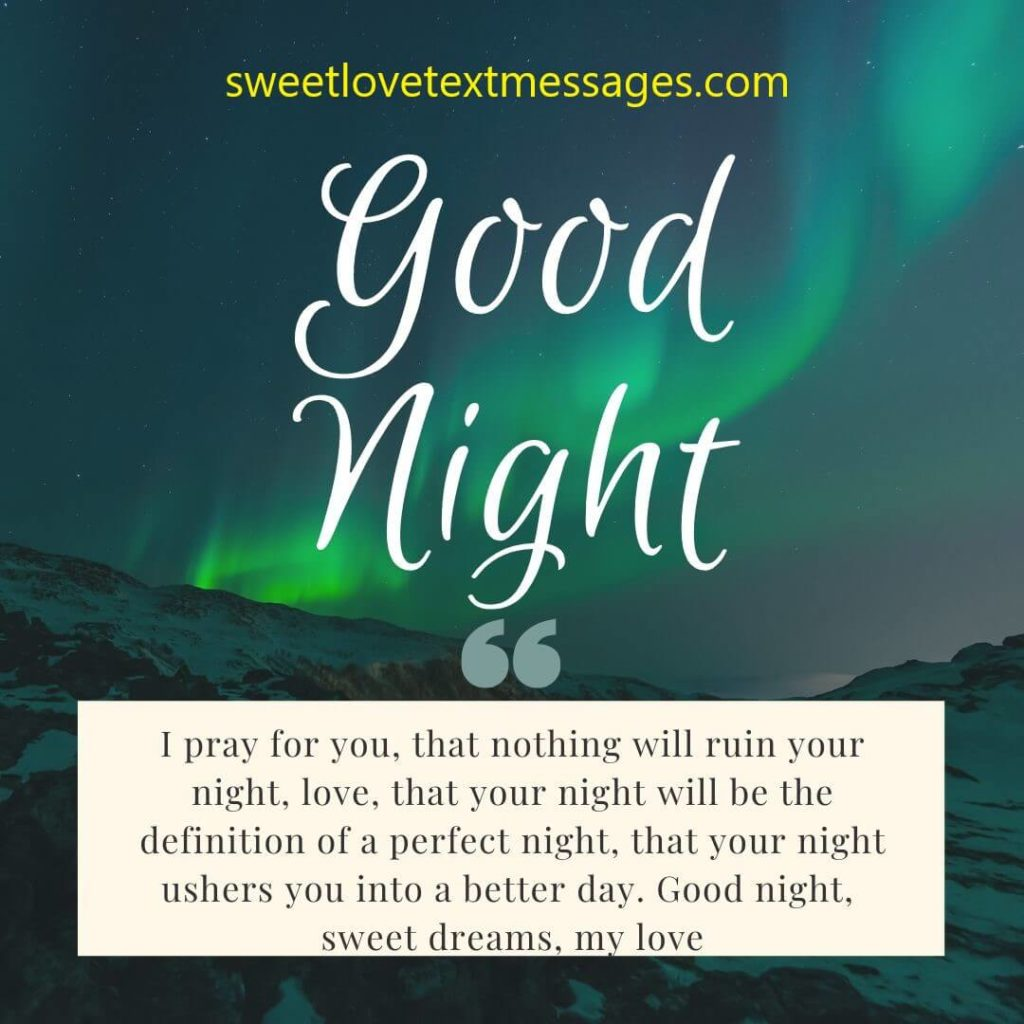 Good Night Sweet Dreams Messages for Him
