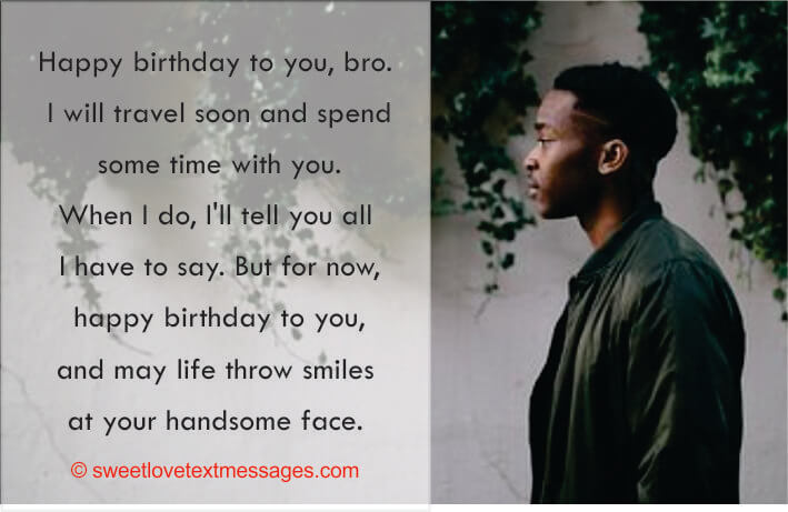 Long Distance Birthday Wishes for Brother
