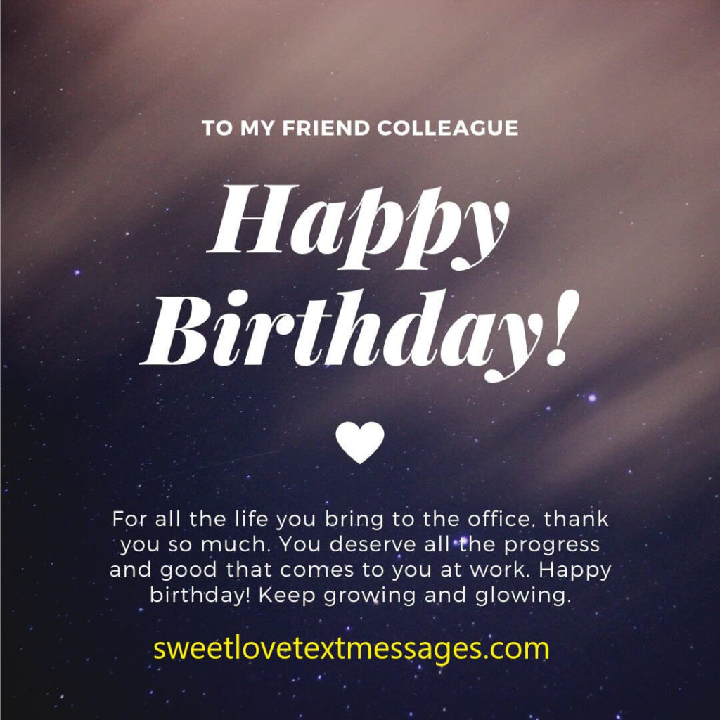 Birthday Wishes from a Woman to a Guy from Work