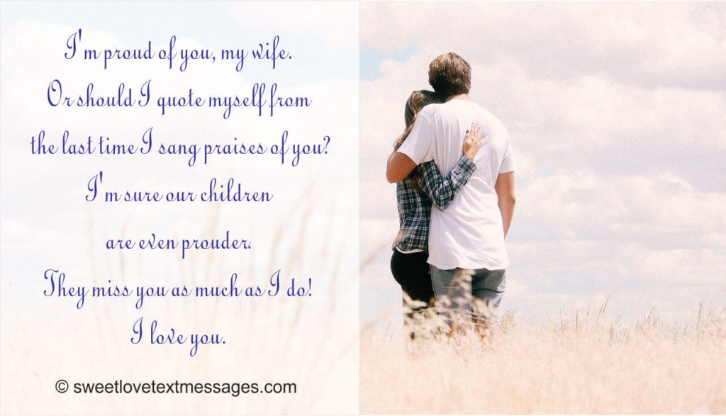 Sweet romantic love message for wife quote