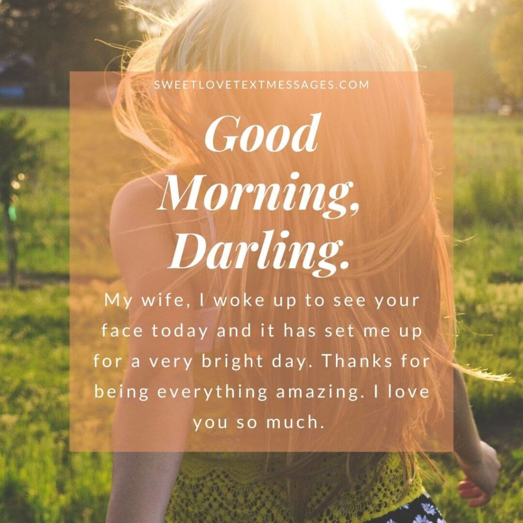 good morning i love you quotes for my wife