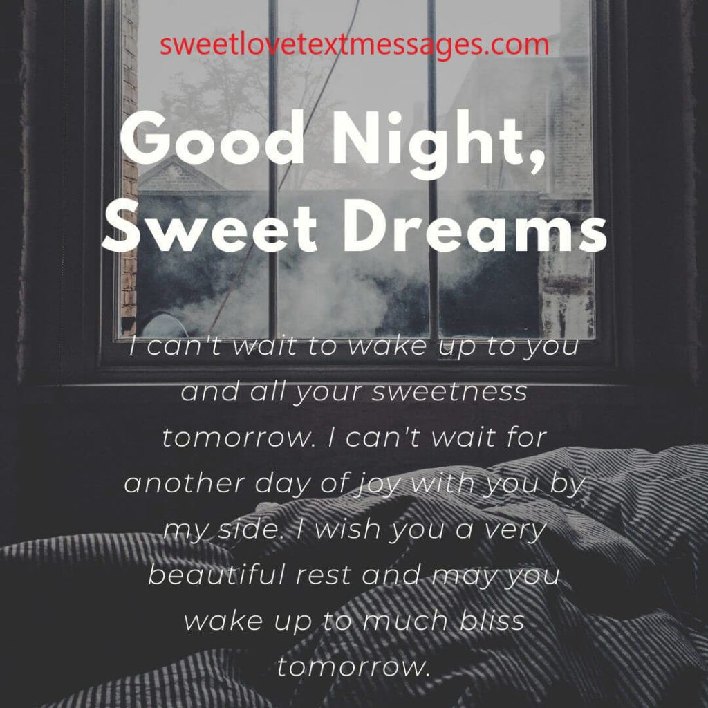 good night sweet dreams my love quotes