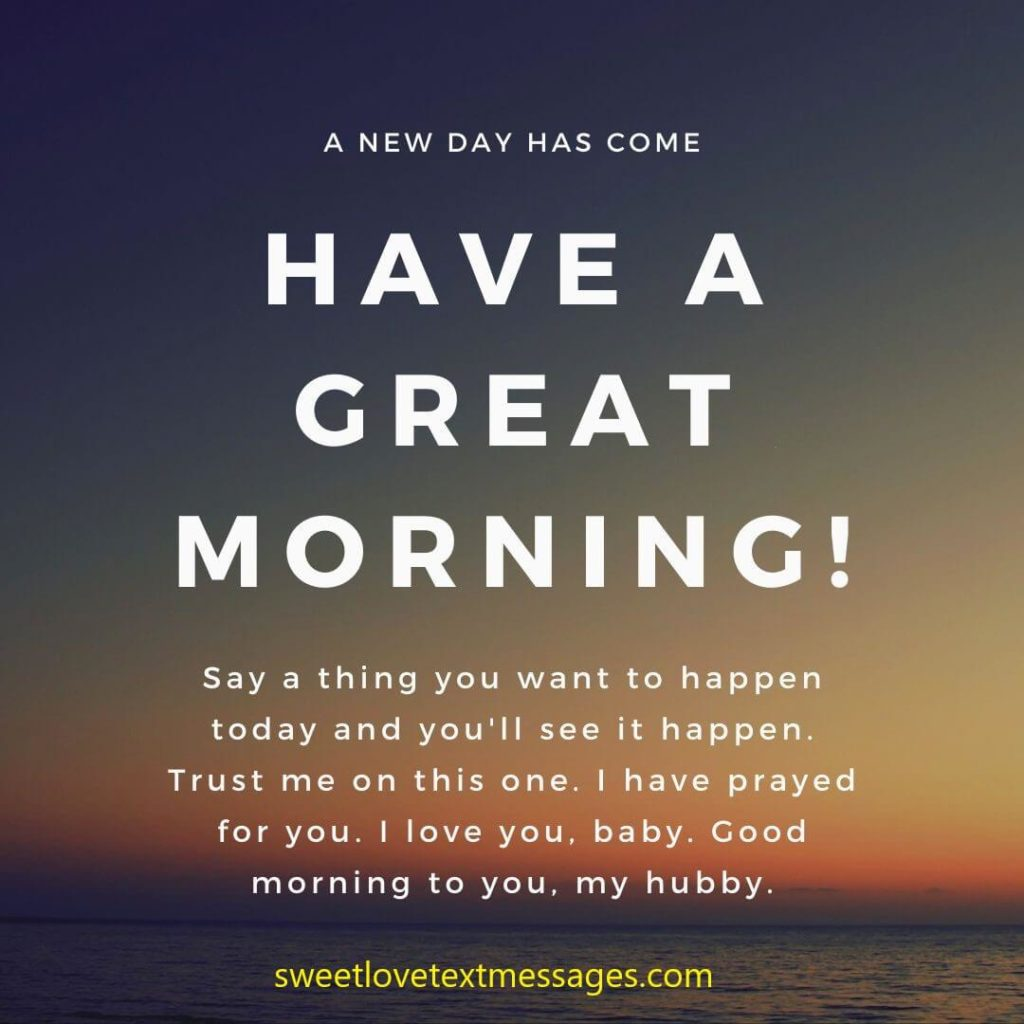 I Love You Good Morning Messages for Husband