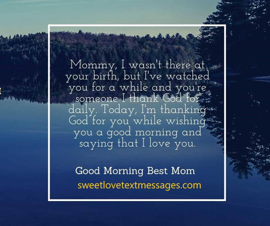 i love you good morning messages for mum