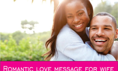 sweet romantic love message for wife image