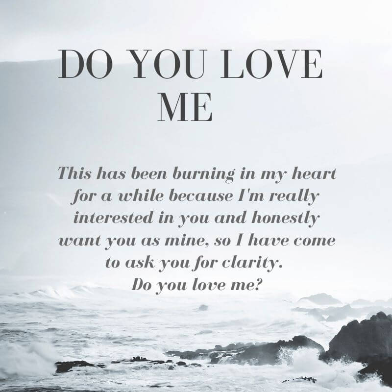 Do you love me quotes for her