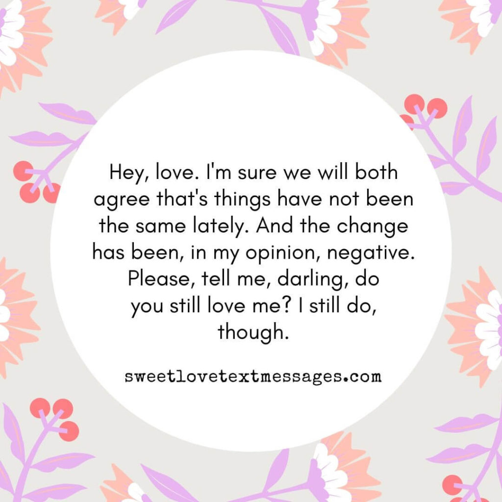 Do you still love me Quotes