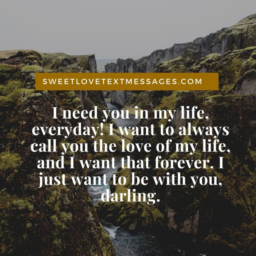 I Want You Forever Quotes For Her