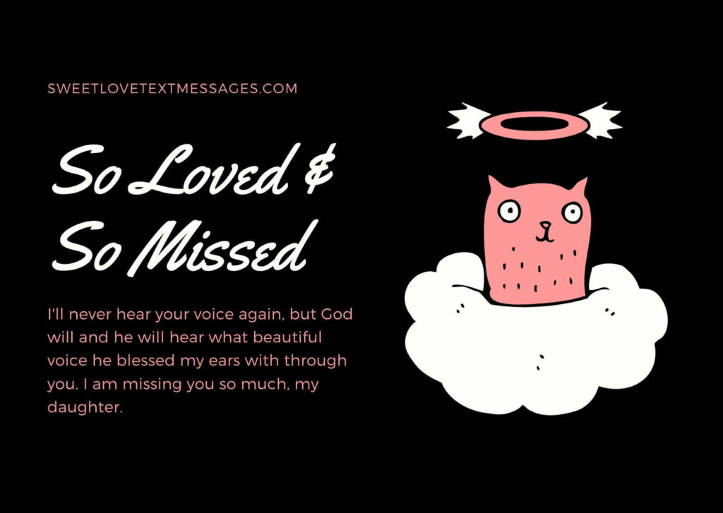 Missing Daughter in Heaven Quotes