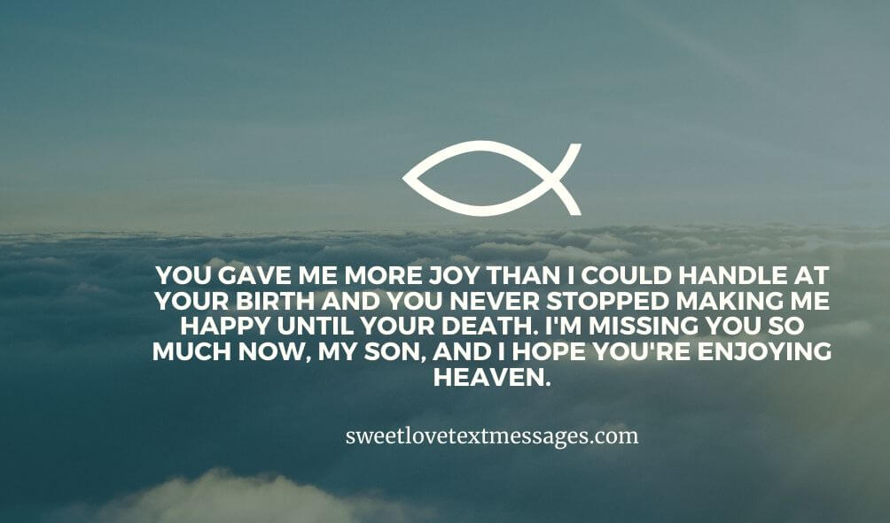 Missing Son in Heaven Quotes