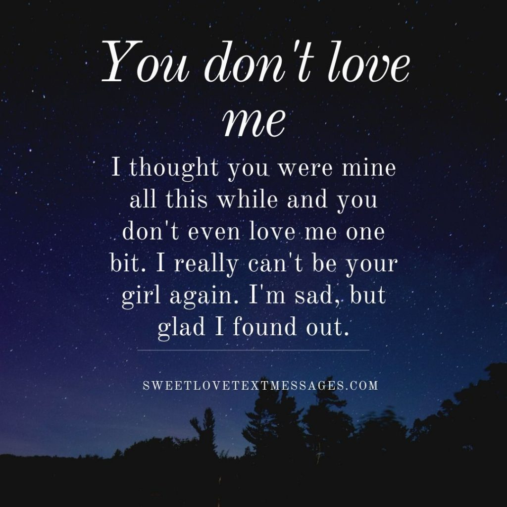 if you dont love me quotes