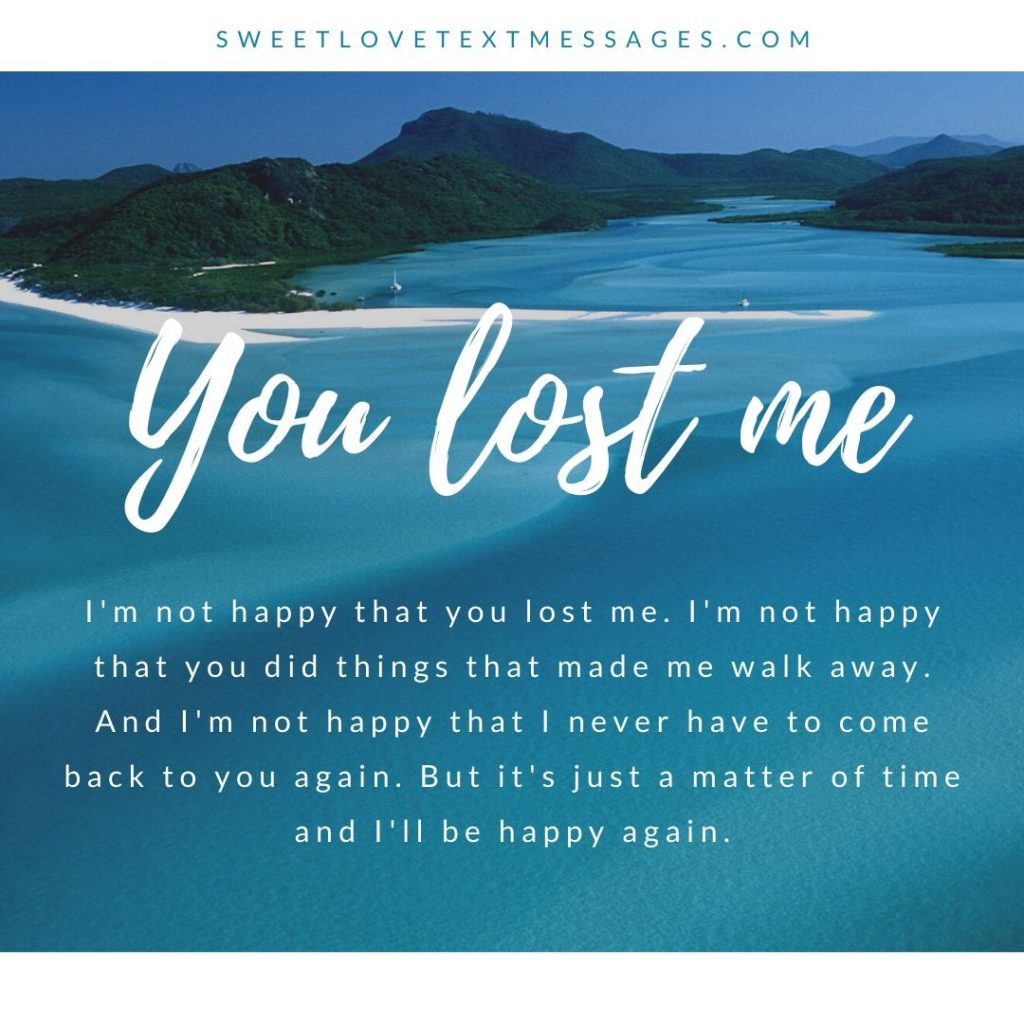 You Lost Me Quotes and Sayings