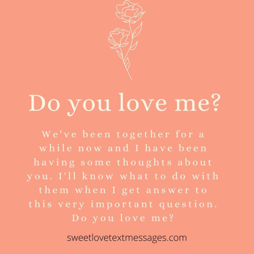 do you love me quote for him