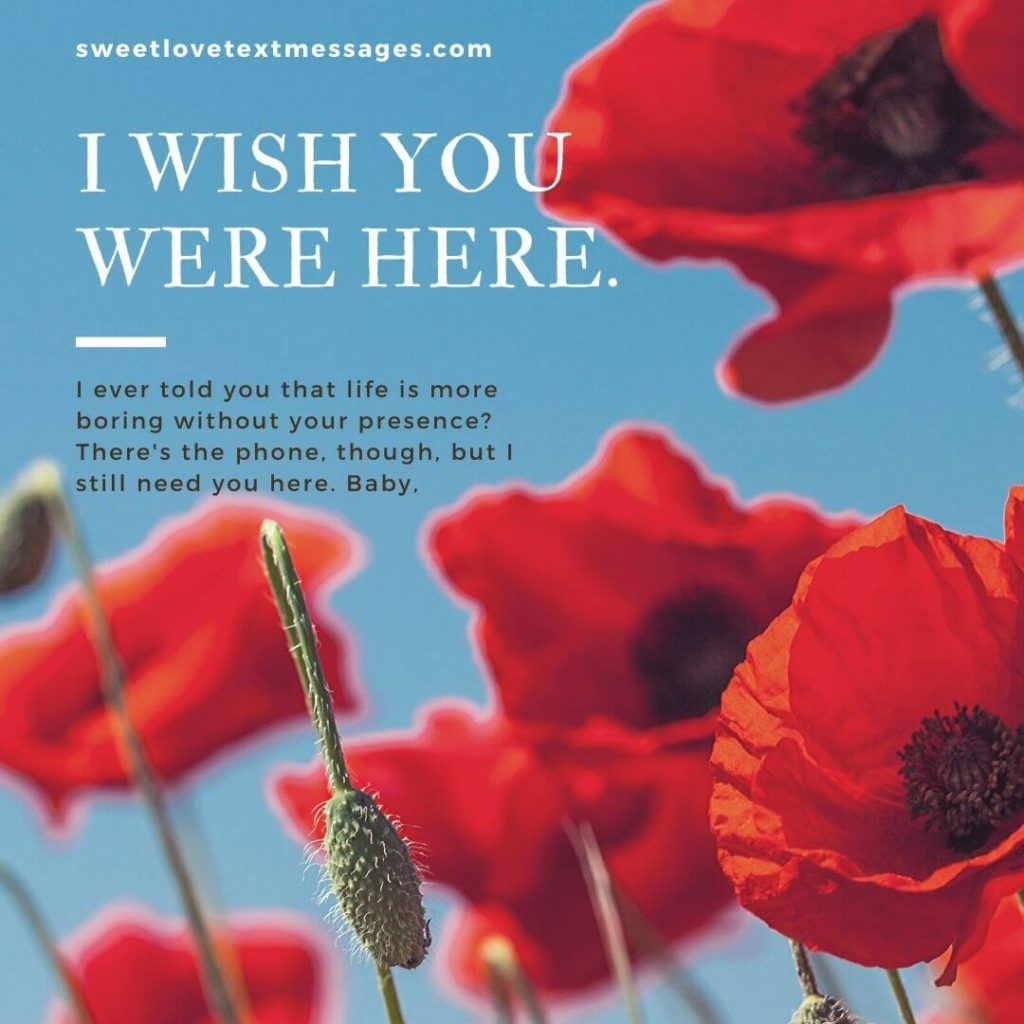 wish you were here quotes for her