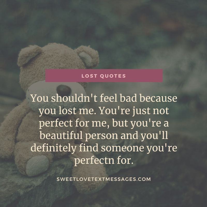 you lost me quotes for her