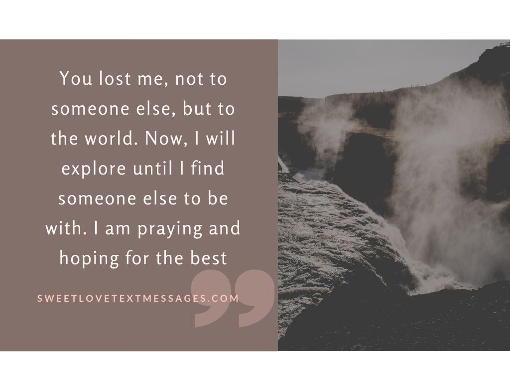 you lost me quotes for him